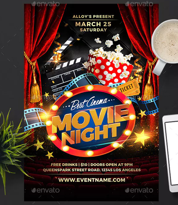Cinema Night Flyer Template