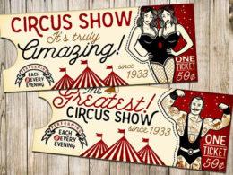 Circus Ticket Templates