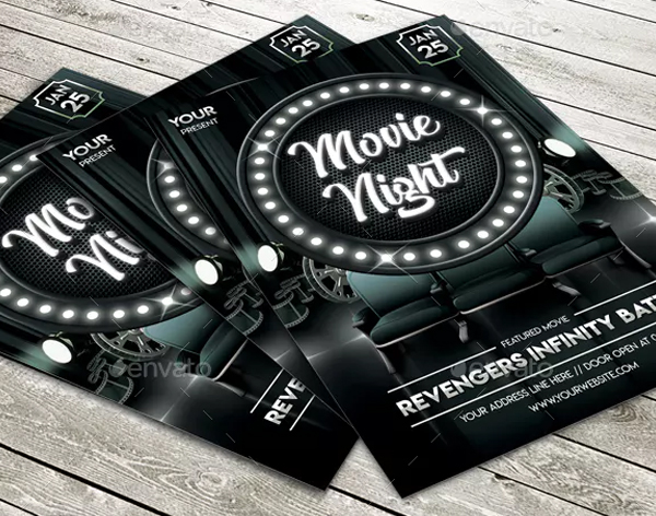 Classic Movie Night Photoshop Flyer Template