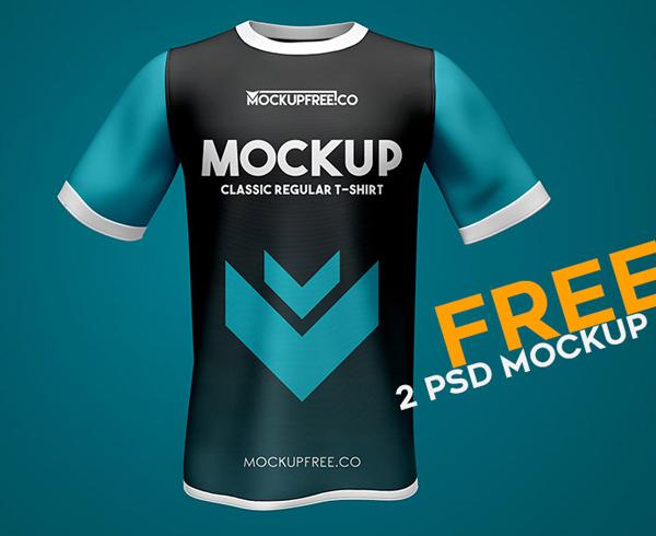 Classic Regular T-Shirt Free PSD Mockups