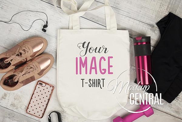 Cloth Shopping Bag Mockup