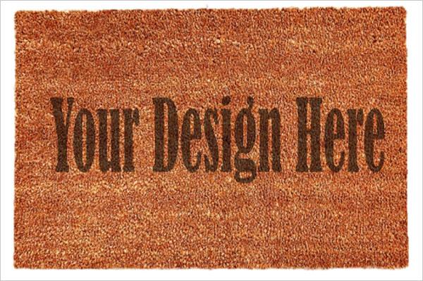Coir Doormat Mockup