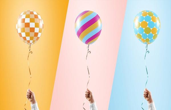 Colorful Balloon Mockup
