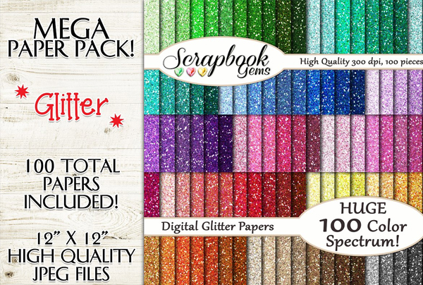 Colors Glitter Papers Textures