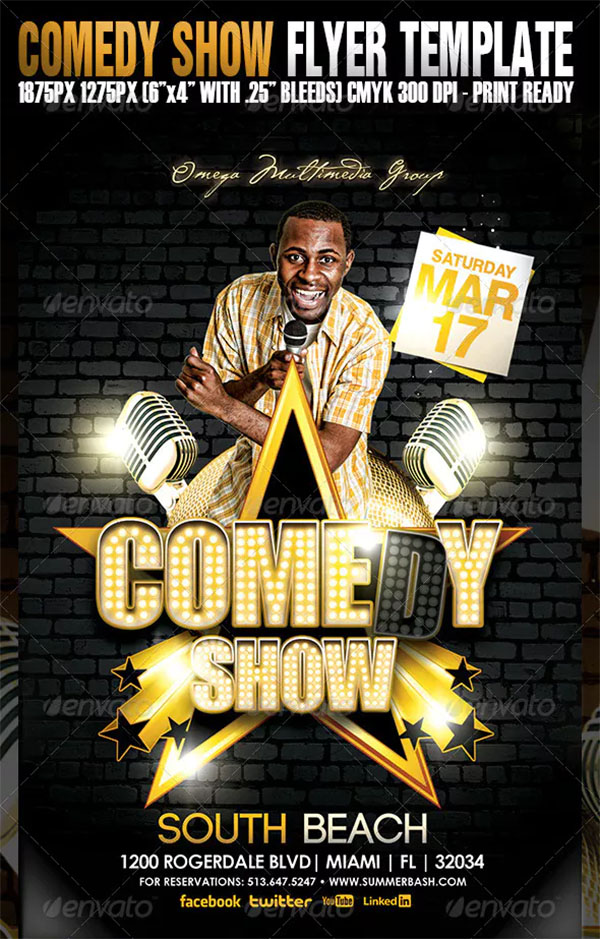 49  comedy show flyer templates