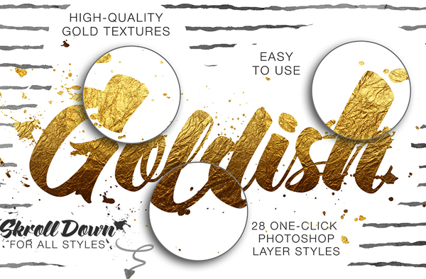 Confetti Gold Styles Texture For Illustrator