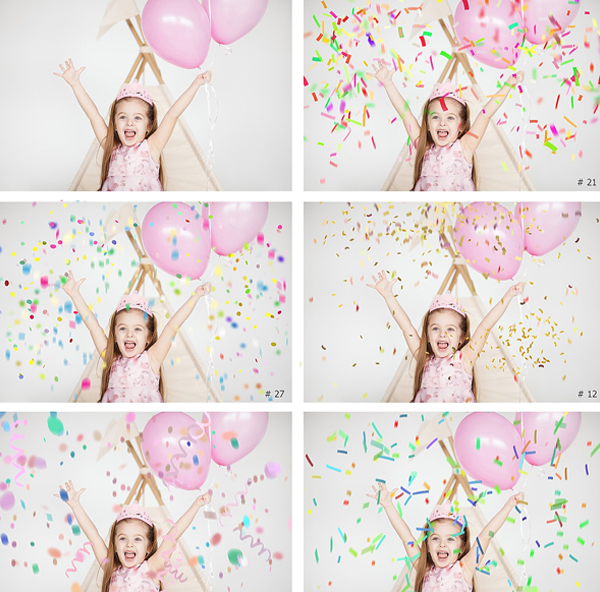 Confetti Overlays and Textures