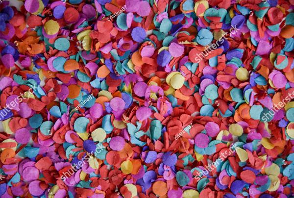 Confetti Texture Background