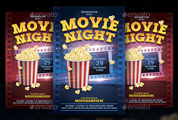 Creative Movie Night Flyer