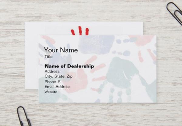 Customizable Cancer Business Card