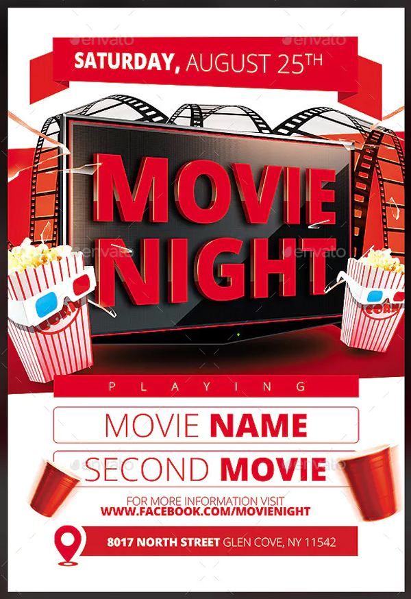 Customizable Movie Night Flyer Template