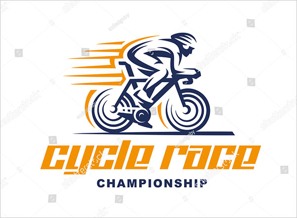 Cycling Race Vector Logo