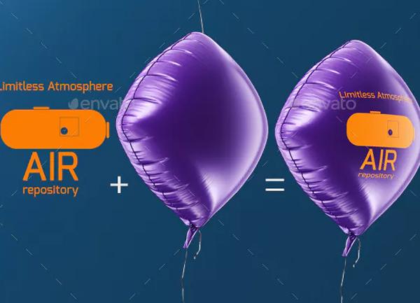 Diamond Shaped Balloon Mock-up