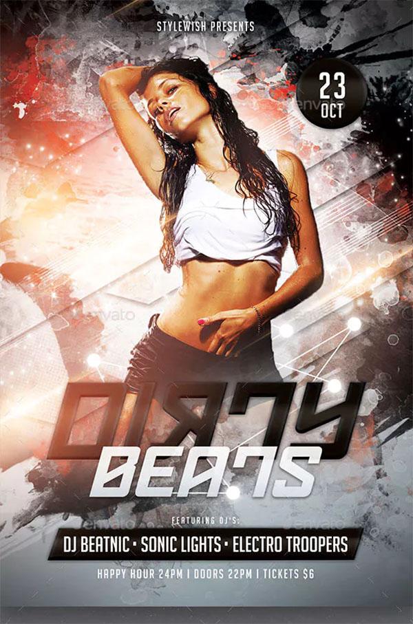 Dirty Beats Flyer Template