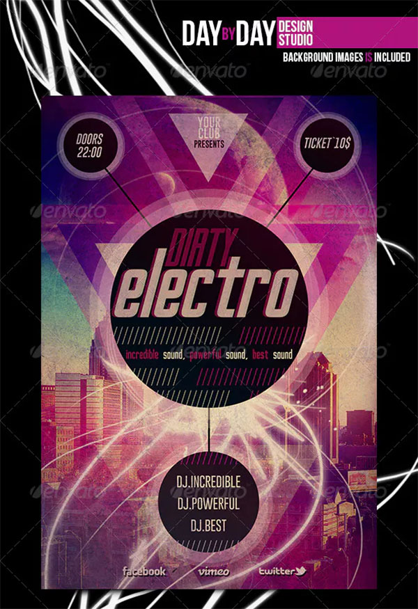 Dirty Electro Flyer Template