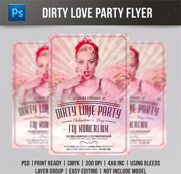 Dirty Love Party Flyer