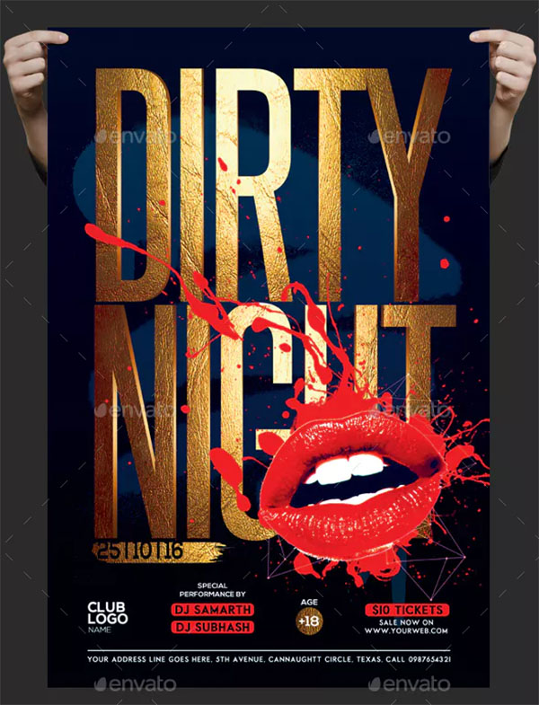Dirty Night Flyer Template