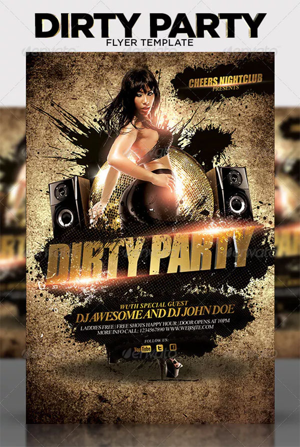 Dirty Party Flyer Template
