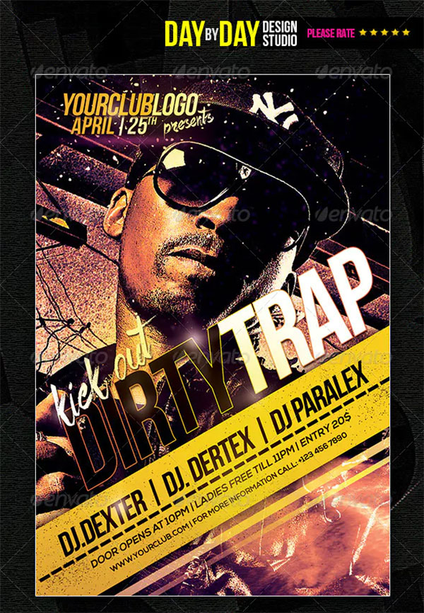 Dirty Trap Flyer Template