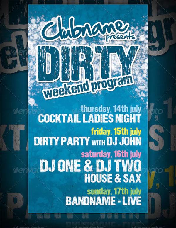 Dirty Weekend Program Flyer