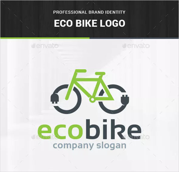 Eco Bicycle Logo Template