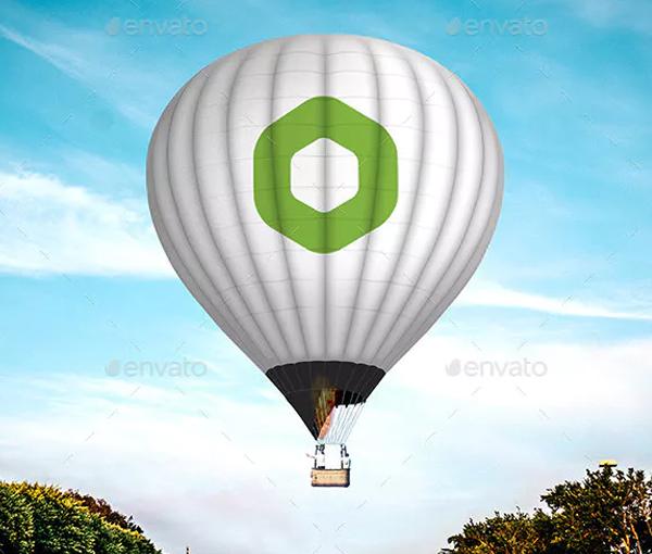 Editable Hot Balloon Mock Up