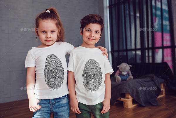 Editable Kids T-Shirt Photoshop Mock-Up