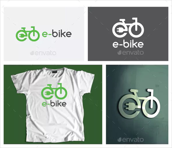Electric Bicycle Logo Template