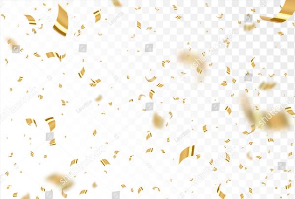 Falling Shiny Golden Confetti Texture