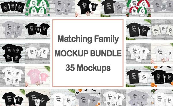 Family T-shirt Mockup Bundle