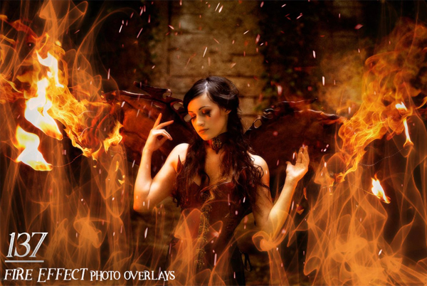 Fire Effect Photo Overlays