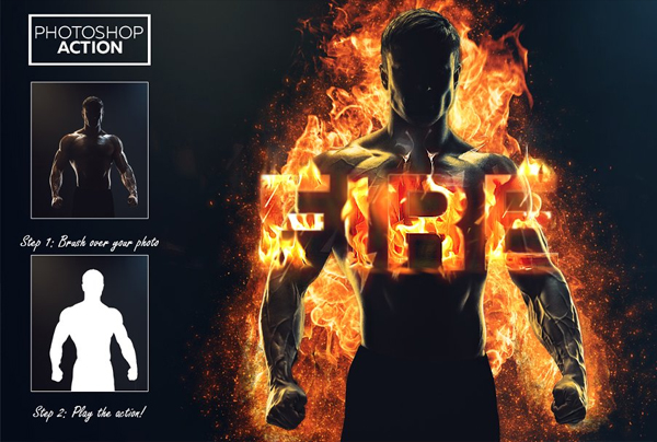 Fire Effect Photoshop Action