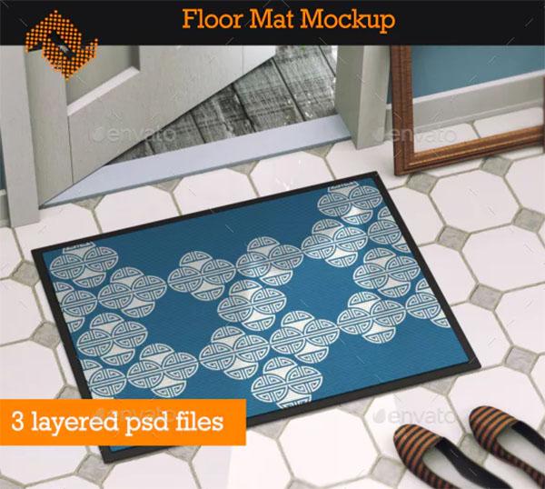 Floor Mat Mockup