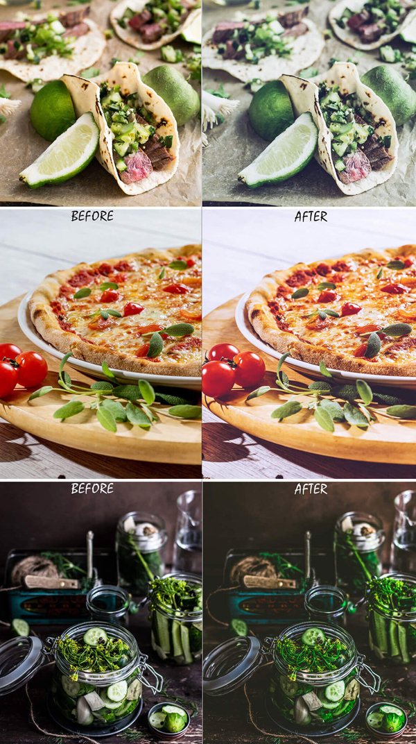 Food Photography Pro Photoshop Actions