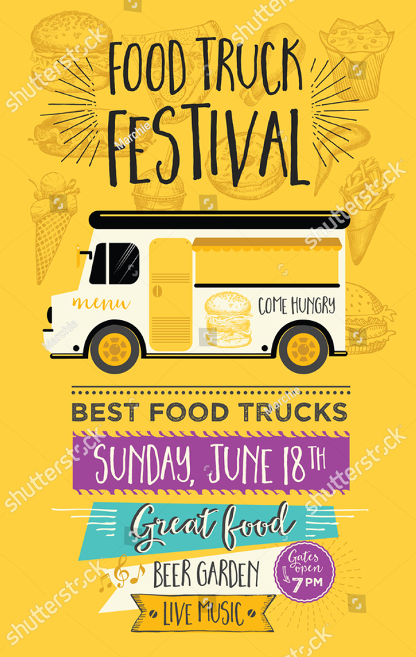 Food Truck Festival Menu and food Banner
