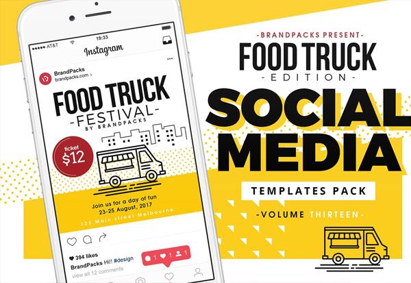 Food Truck Social Media Banners