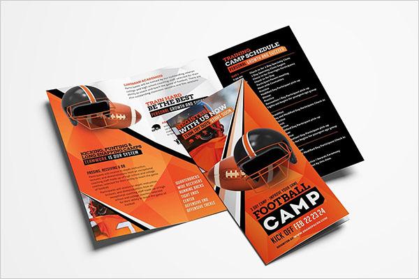 Football Camp Brochures Template