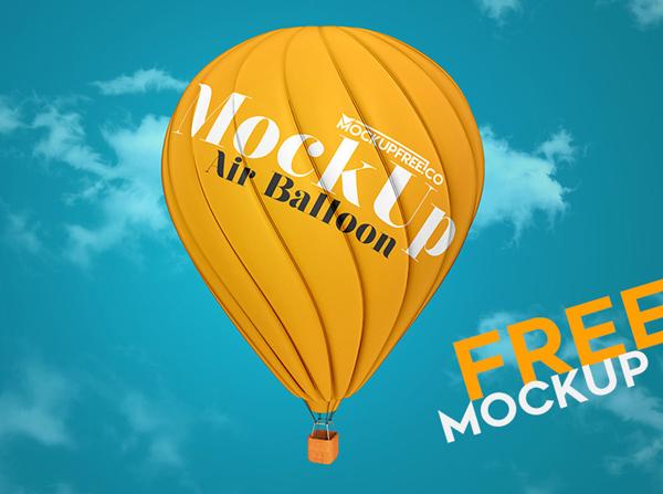 Free Air Balloon PSD Mockup