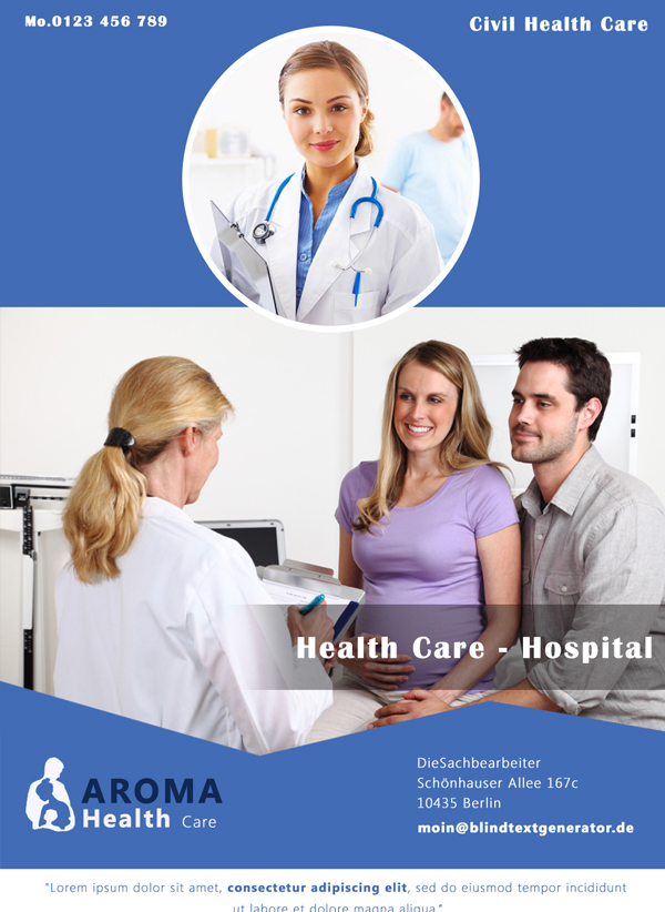 Free Brochure Template For Hospital