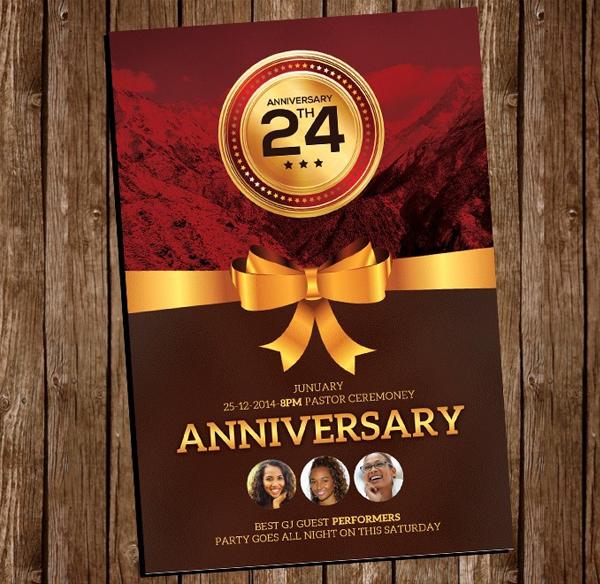 Free Church Anniversary Flyer Psd Template