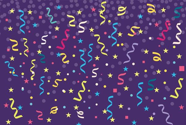 Free Colorful Confetti Vector Texture