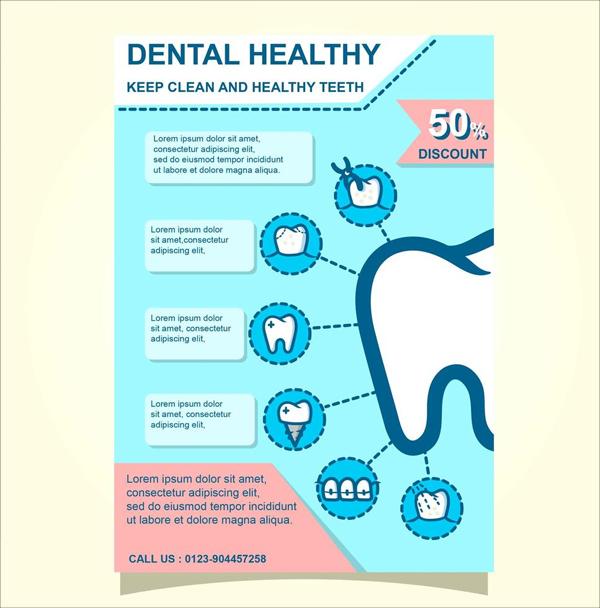Free Dental Health and Wellness Brochure Template