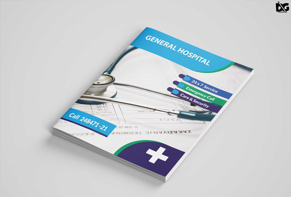Free Download PSD Hospital Care Bi-Fold Brochure Template