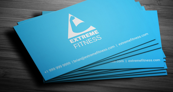 Free Health & Fitness Membership Business Card Template
