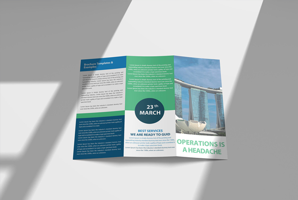 Free New Hospital Tri-Fold Brochure PSD Mockup
