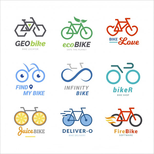 Free PSD Bicycle Logo Templates