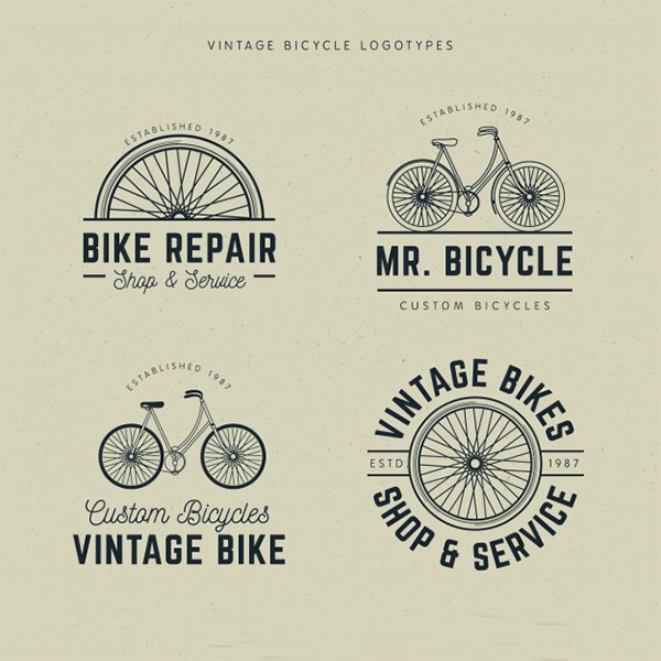 Free PSD Bicycles Logo Design