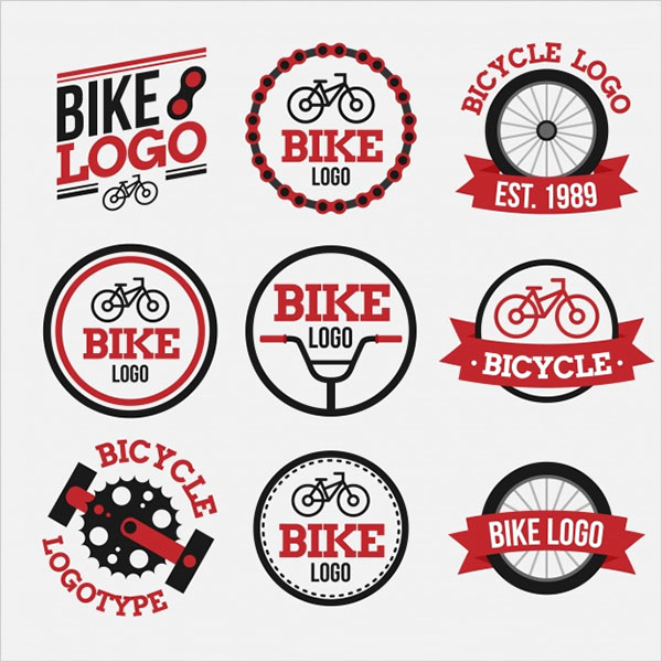 Free PSD Bicycles Logo Template