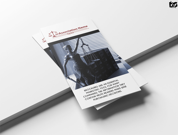 Free PSD Clean Law Tr-Fold Brochure Template