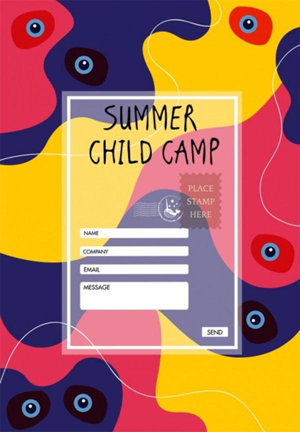 Free PSD Kids Summer Camp Brochure